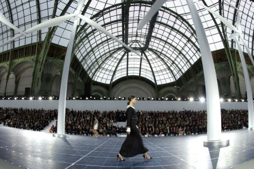 Wind turbines at the 2012 Chanel show