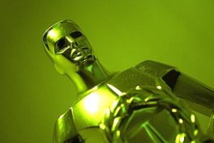 Green Oscar Statue