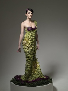 Veggie dress by Ted Sabarese