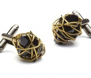 Spoken for cufflinks by Julie Ragolia in collaboration with Senhoa