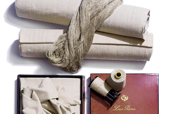 Louts flower fabric by Loro Piana