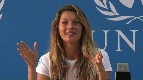 Gisele Bündchen was named UNEP Goodwill Ambassador in 2009.