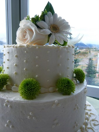Eco-friendly wedding cake via Green Wedding Slices.