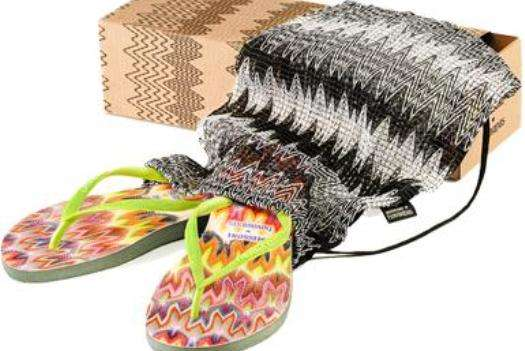 Missoni Havaianas limited edition eco-flip-flops