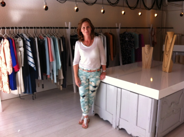 Theresa Hamilton, owner of  A ma fille boutique in Rolle, Switzerland