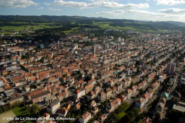 La Chaux-de-Fonds, the capital of Swiss watchmaking industry.