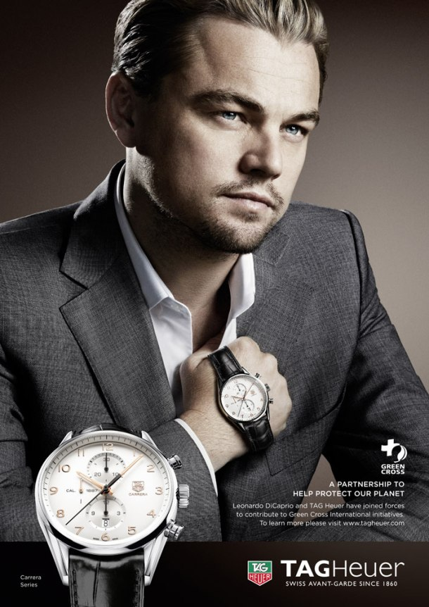 Leonardo DiCaprio's campaign with TAG Heuer in support of the Green Cross International