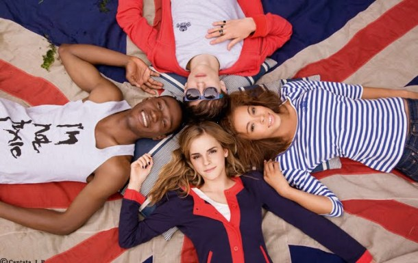 Emma Watson, the ultimate preppy girl, advertising her collection for eco-fashion brand People Tree.