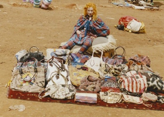 Vivienne Westwood in Kenya promoting her Ethical Fashion Africa Collection. Photo courtesy International Trade Centre.