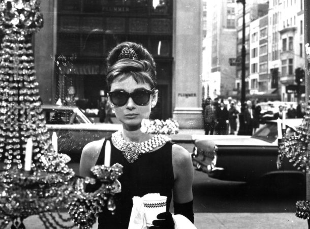 Iconic opening scene from the 1961 film 'Breakfast at Tiffany's'.