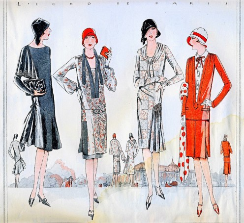 """L'Echo de Paris"" with women's fashions from the 1920s."