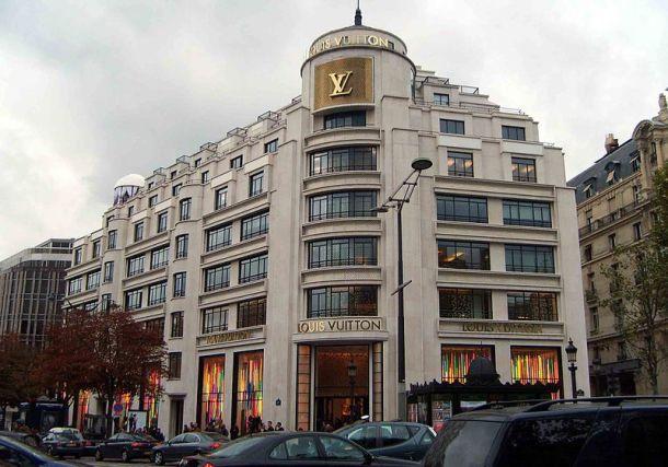 Louis Vuitton flagship store on Champs-Elysées, Paris. Photo via Wikipedia.