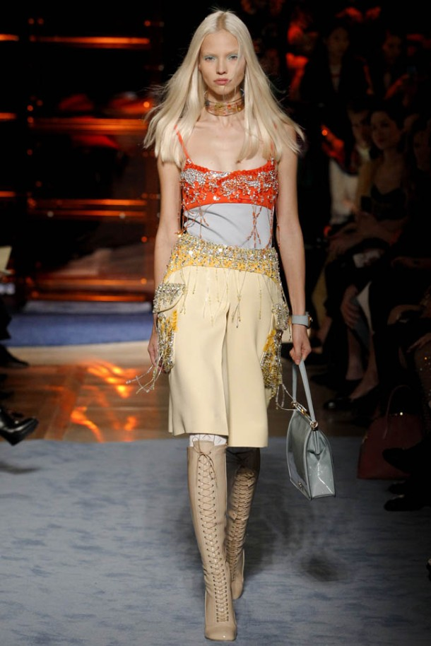 The new flapper - Miu Miu SS 2014 collection at the Paris Fashion Week. Photo via Style.com.