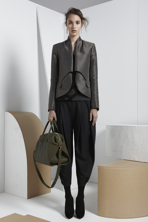Maiyet sculpted blazer in grey.