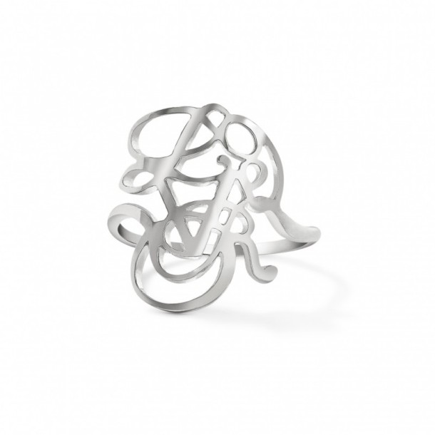 Our Love Will Bloom recycled silver ring by CRED.