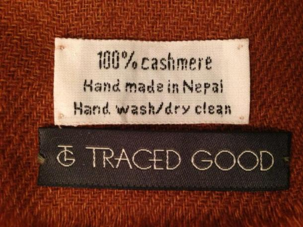 Traced Good sources its cashmere from family-run workshops in Nepal.