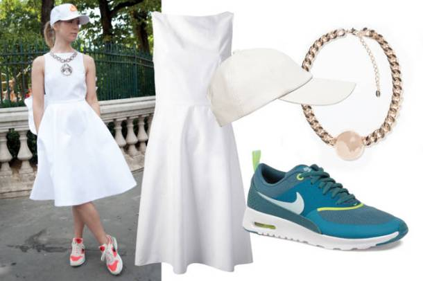 Sporty chic by Russian sustainable fashion designer Vika Gazinskaya. Photo via ELLE.