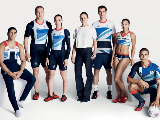 They are very stylish, but are they sustainable? 2012 London Olympic kits for Team GB by Adidas and Stella McCartney. Photo via Stella McCartney.