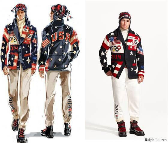 Team USA outfits designed by Ralph Lauren got mixed reviews. Photo via Ralph Lauren.