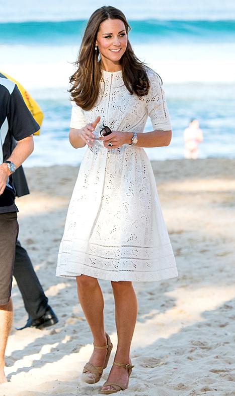 Zimmermann dress worn in Sydney, Australia  by the Duchess of Cambridge. Photo credit: Samir Hussein/WireImage.com