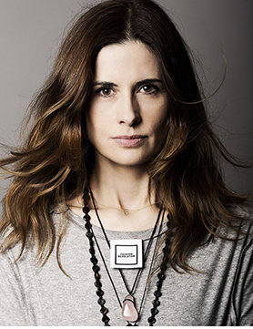 Livia Firth wears her clothes inside out for Fashion Revolution Day 2014. Photo: Trevor Leighton via ELLE UK.