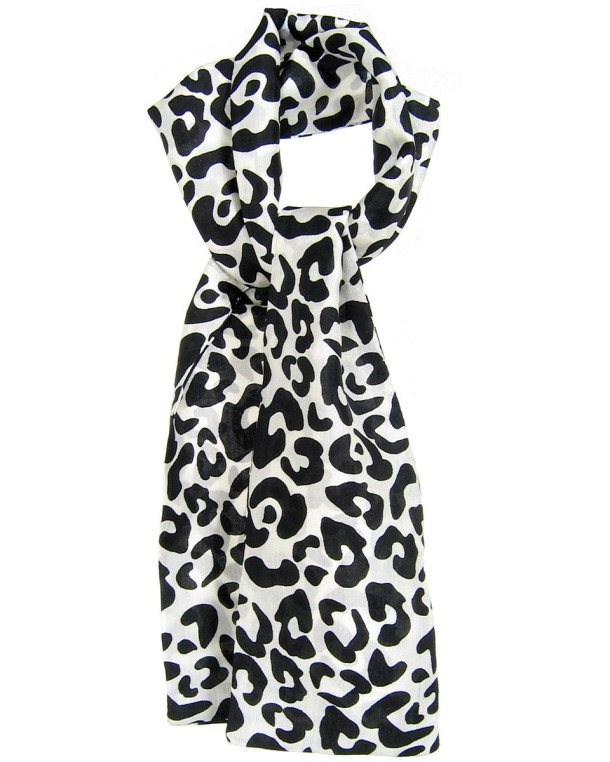 NV Calcutta London Leopard Print Silk Scarf.