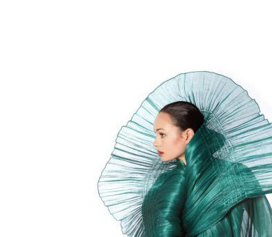 Designer Dita Sandico Ong uses banana, abacca and other natural plant fibers.