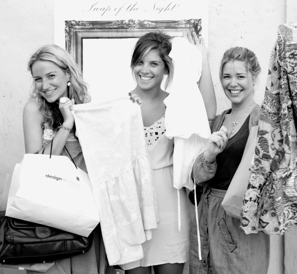 Happy swappers at a clothes exchange event in Australia.
