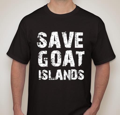 Save Goat Islands T-shirt on save via Booster.com.