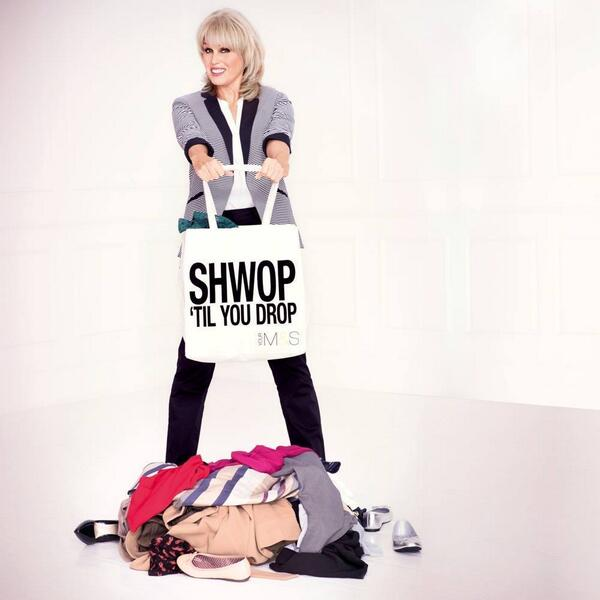 Joanna Lumley is the face of the M&S Shwop campaign.
