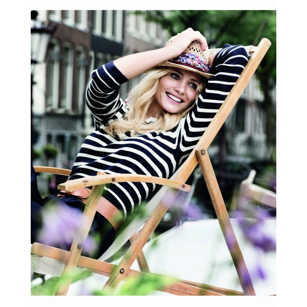 Sustainable Breton stripe top by Jackpot. Photo via fashion-conscience.com