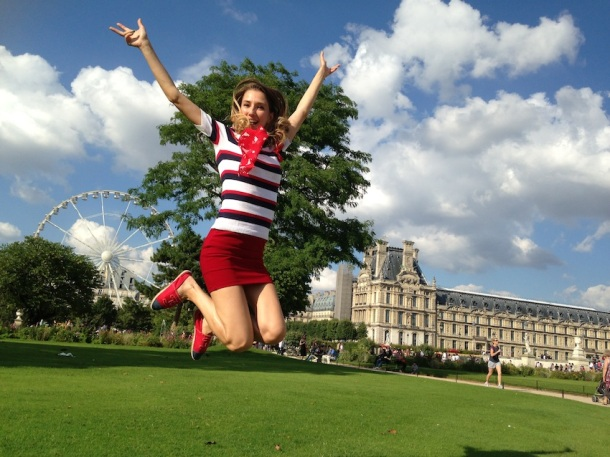 Blogger Valentina Nessi celebrates French National Day. Photo via vfashionworld.com