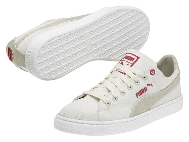 PUMA's InCycle Basket sneaker completely biodegrades in approximately six months. Image courtesy of PUMA.