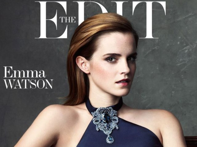 Emma Watson modelling the Green Carpet Challenge capsule collection in 2013.