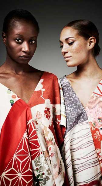 Kimono-inspired fashions by Kazu Huggler. Photo Gian Marco Castelberg.