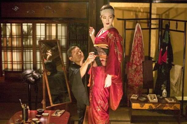 "A kimono scene from the 2005 film ""Memoirs of a Geisha""."