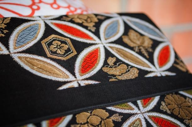 Moniko clutch handmade from vintage kimonos. Photo Blue Cicada Photography.
