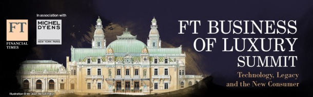 Ad for the 2015 FT Business of Luxury Summit to be held in Monaco.