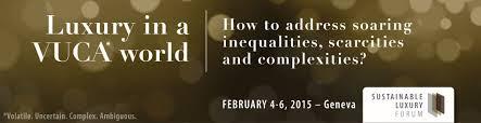 Ad for the 2015 Sustainable Luxury Forum in Geneva.