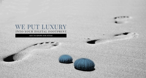 Advertisement for digital solutions for luxury brands. Photo via Agence: Luxury.