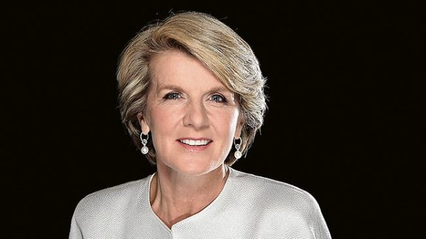 Australian Foreign Minister Julie Bishop masters fashion diplomacy. Photo via The Australian.