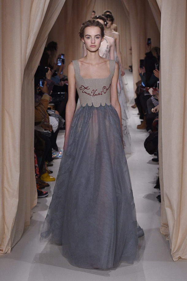 Opening of Valentino's Haute Couture Paris show. Photo via Valentino website.