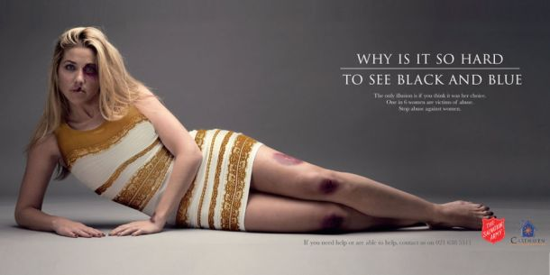 Salvation Army's #TheDress ad exposes the problem of domestic violence which affects one in every six women.