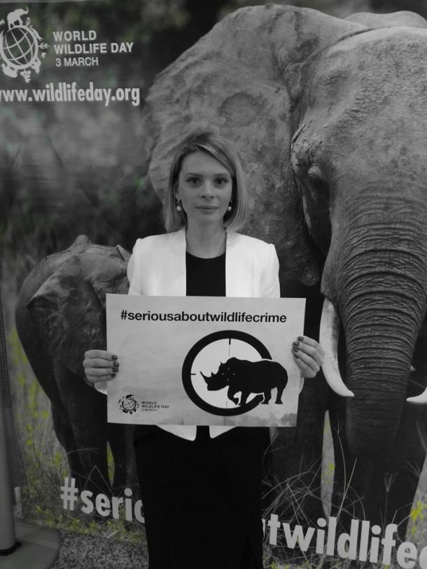 Supporting #WorldWildlifeDay at the event in Geneva. Photo courtesy Juan Carlos Vasquez.