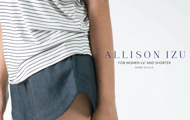Allison Izu is known for her jeans for petite women.