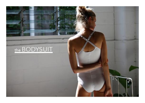 White bodysuit by Nico Underwear.