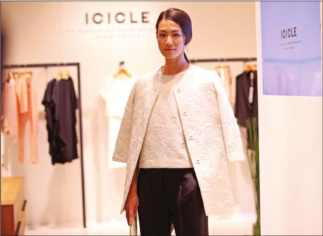 Icicle is a Chinese eco-luxury brand. Photo via China Daily.