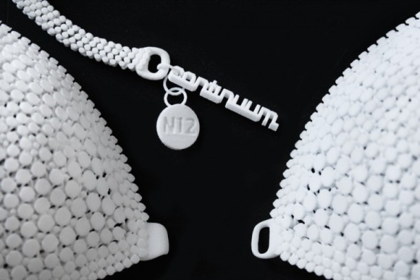 The 3D-printed bathing suit made from Nylon 12 is one of those featured in the first episode of Dress Code. Photo via Continuum Fashion and Shapeways.
