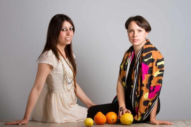 Orange Fiber co-founders Adriana Santanocito and Enrica Arena.