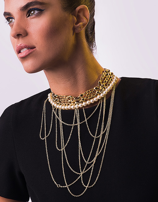 TRASH4FLASH gold plated choker necklace